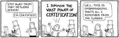 Dilbert on certification